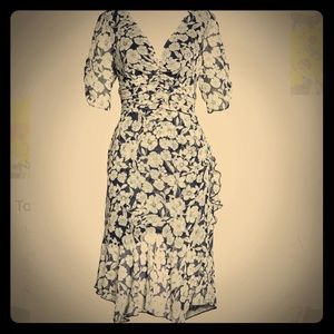 Chelsea28 Floral Print Ruched Dress